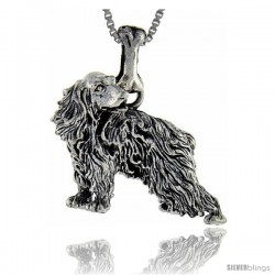 Sterling Silver English Cocker Spaniel Dog Pendant