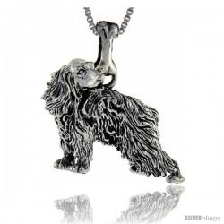 Sterling Silver English Cocker Spaniel Dog Pendant