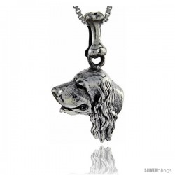 Sterling Silver English Cocker Spaniel Dog Pendant -Style Pa1067