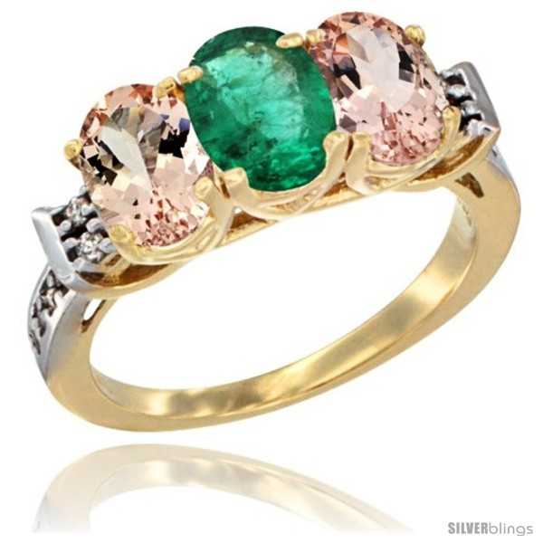https://www.silverblings.com/63015-thickbox_default/10k-yellow-gold-natural-emerald-morganite-sides-ring-3-stone-oval-7x5-mm-diamond-accent.jpg