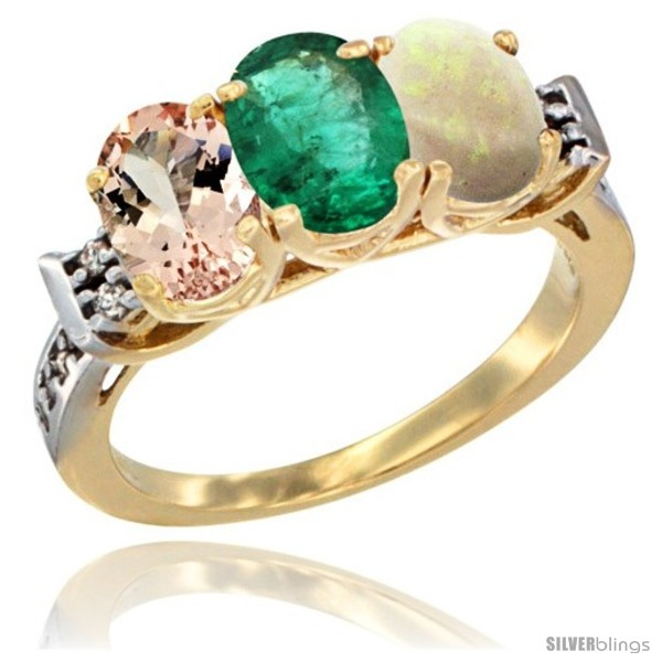 https://www.silverblings.com/63023-thickbox_default/10k-yellow-gold-natural-morganite-emerald-opal-ring-3-stone-oval-7x5-mm-diamond-accent.jpg