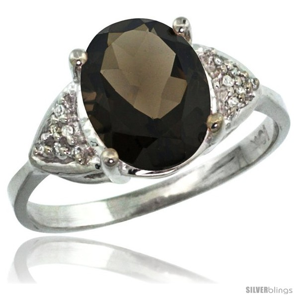 https://www.silverblings.com/63051-thickbox_default/14k-white-gold-diamond-smoky-topaz-ring-2-40-ct-oval-10x8-stone-3-8-in-wide.jpg