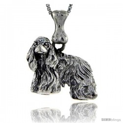 Sterling Silver American Cocker Dog Pendant