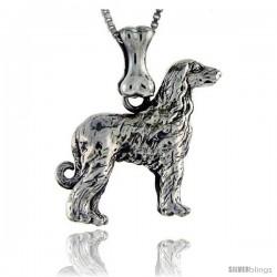 Sterling Silver Afghan Dog Pendant