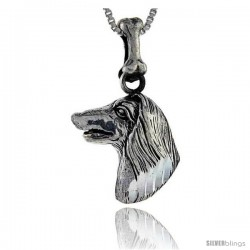 Sterling Silver Afghan Dog Pendant -Style Pa1031