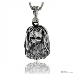 Sterling Silver Afghan Dog Pendant -Style Pa1032