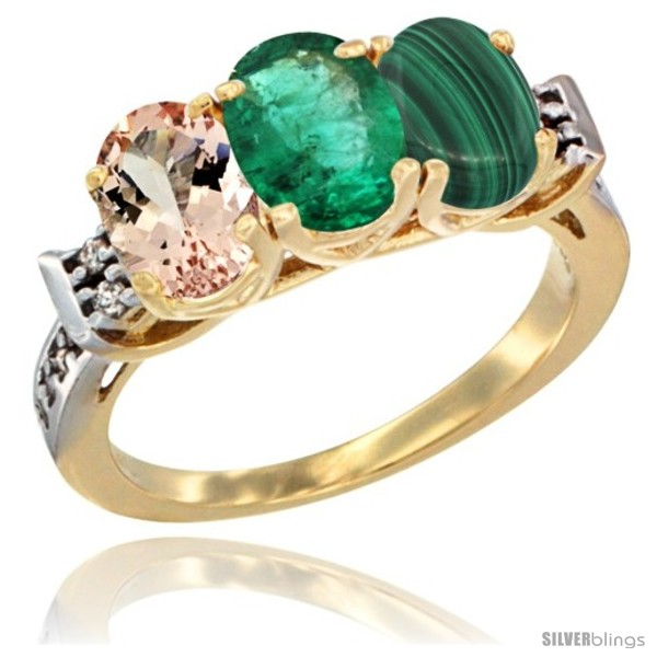 https://www.silverblings.com/63232-thickbox_default/10k-yellow-gold-natural-morganite-emerald-malachite-ring-3-stone-oval-7x5-mm-diamond-accent.jpg