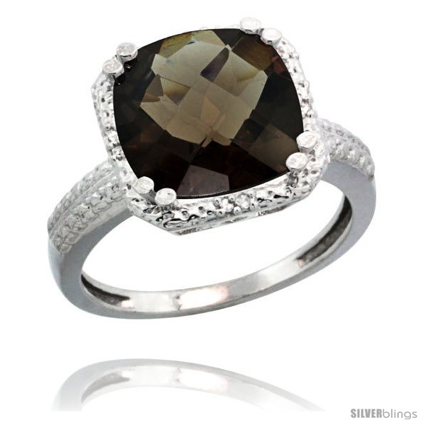 https://www.silverblings.com/63260-thickbox_default/14k-white-gold-diamond-smoky-topaz-ring-5-94-ct-checkerboard-cushion-11-mm-stone-1-2-in-wide.jpg