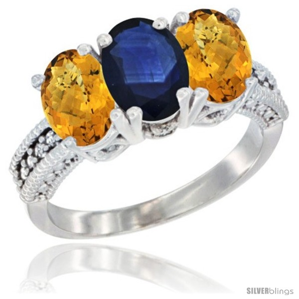 https://www.silverblings.com/63404-thickbox_default/14k-white-gold-natural-blue-sapphire-ring-whisky-quartz-3-stone-7x5-mm-oval-diamond-accent.jpg
