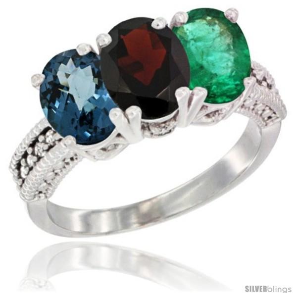 https://www.silverblings.com/63645-thickbox_default/10k-white-gold-natural-london-blue-topaz-garnet-emerald-ring-3-stone-oval-7x5-mm-diamond-accent.jpg