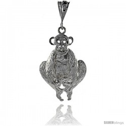 Sterling Silver Movable Monkey Pendant