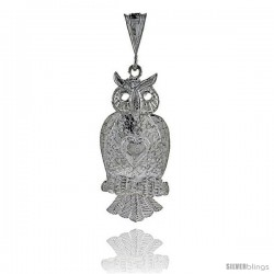 Sterling Silver Movable Owl Pendant