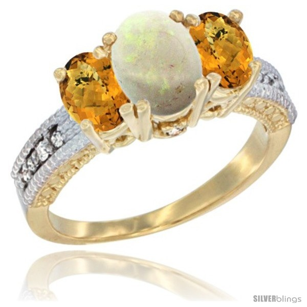 https://www.silverblings.com/63739-thickbox_default/14k-yellow-gold-ladies-oval-natural-opal-3-stone-ring-whisky-quartz-sides-diamond-accent.jpg