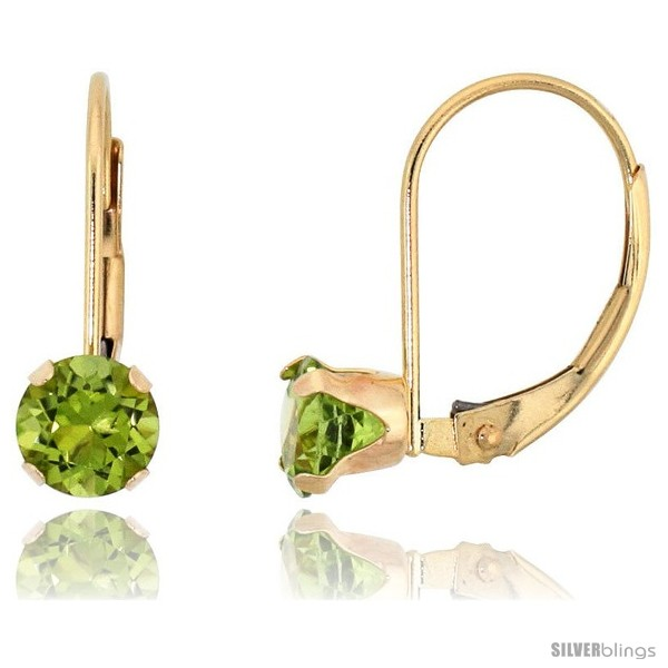 https://www.silverblings.com/63764-thickbox_default/10k-yellow-gold-natural-peridot-leverback-earrings-5mm-brilliant-cut-august-birthstone-9-16-in-tall.jpg