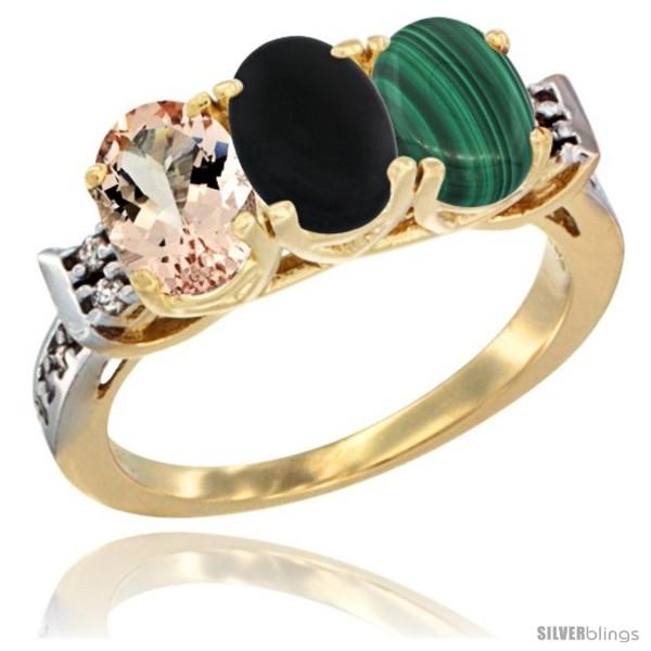https://www.silverblings.com/63810-thickbox_default/10k-yellow-gold-natural-morganite-black-onyx-malachite-ring-3-stone-oval-7x5-mm-diamond-accent.jpg