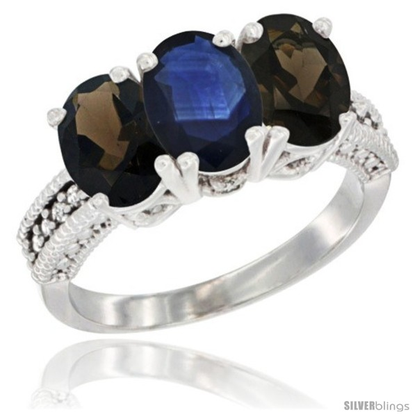 https://www.silverblings.com/63900-thickbox_default/14k-white-gold-natural-blue-sapphire-smoky-topaz-ring-3-stone-7x5-mm-oval-diamond-accent.jpg