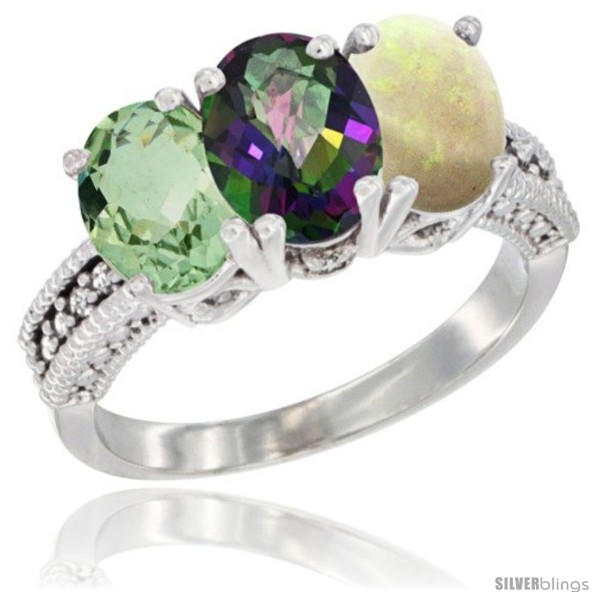 https://www.silverblings.com/6398-thickbox_default/14k-white-gold-natural-green-amethyst-mystic-topaz-opal-ring-3-stone-7x5-mm-oval-diamond-accent.jpg