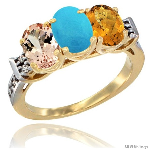 https://www.silverblings.com/63993-thickbox_default/10k-yellow-gold-natural-morganite-turquoise-whisky-quartz-ring-3-stone-oval-7x5-mm-diamond-accent.jpg