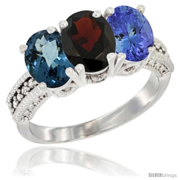 https://www.silverblings.com/64027-thickbox_default/10k-white-gold-natural-london-blue-topaz-garnet-tanzanite-ring-3-stone-oval-7x5-mm-diamond-accent.jpg