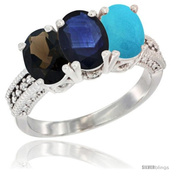 https://www.silverblings.com/64083-thickbox_default/14k-white-gold-natural-smoky-topaz-blue-sapphire-turquoise-ring-3-stone-7x5-mm-oval-diamond-accent.jpg