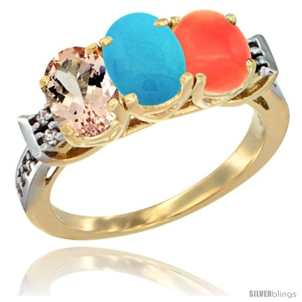 https://www.silverblings.com/64154-thickbox_default/10k-yellow-gold-natural-morganite-turquoise-coral-ring-3-stone-oval-7x5-mm-diamond-accent.jpg