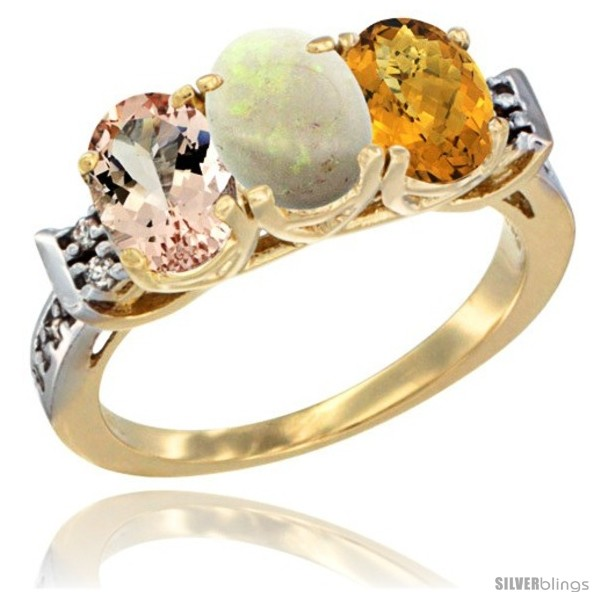 https://www.silverblings.com/64166-thickbox_default/10k-yellow-gold-natural-morganite-opal-whisky-quartz-ring-3-stone-oval-7x5-mm-diamond-accent.jpg
