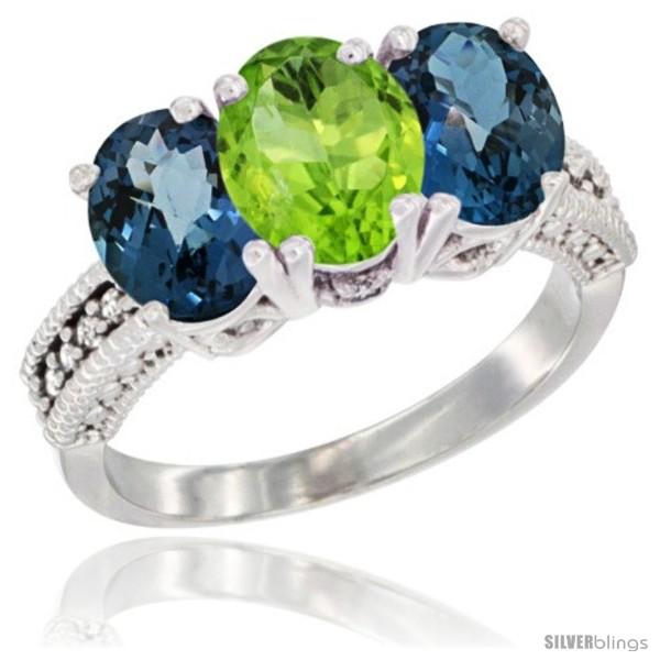 https://www.silverblings.com/64188-thickbox_default/10k-white-gold-natural-peridot-london-blue-topaz-sides-ring-3-stone-oval-7x5-mm-diamond-accent.jpg