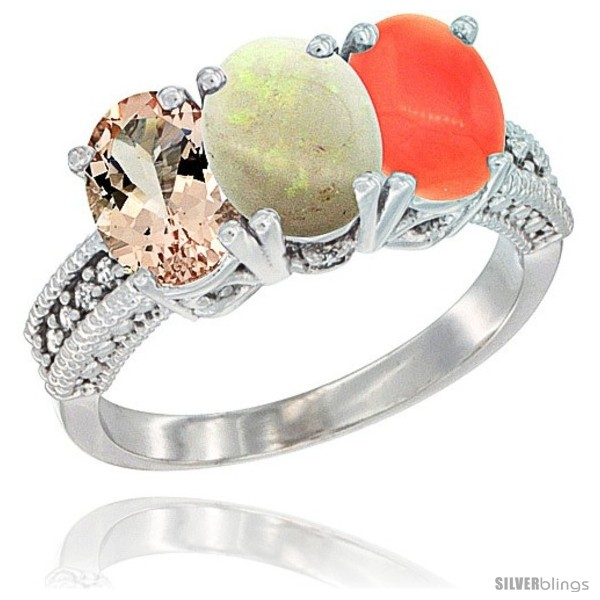 https://www.silverblings.com/642-thickbox_default/10k-white-gold-natural-morganite-opal-coral-ring-3-stone-oval-7x5-mm-diamond-accent.jpg
