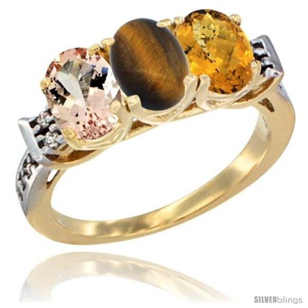 https://www.silverblings.com/64340-thickbox_default/10k-yellow-gold-natural-morganite-tiger-eye-whisky-quartz-ring-3-stone-oval-7x5-mm-diamond-accent.jpg