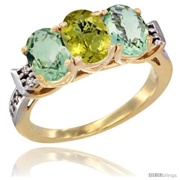 https://www.silverblings.com/6450-thickbox_default/10k-yellow-gold-natural-lemon-quartz-green-amethyst-sides-ring-3-stone-oval-7x5-mm-diamond-accent.jpg