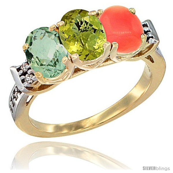 https://www.silverblings.com/6452-thickbox_default/10k-yellow-gold-natural-green-amethyst-lemon-quartz-coral-ring-3-stone-oval-7x5-mm-diamond-accent.jpg