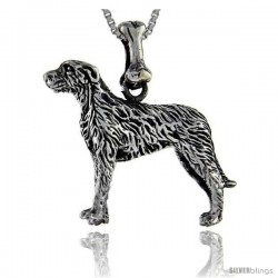 Sterling Silver Irish Wolfhound Dog Pendant