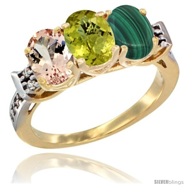 https://www.silverblings.com/64764-thickbox_default/10k-yellow-gold-natural-morganite-lemon-quartz-malachite-ring-3-stone-oval-7x5-mm-diamond-accent.jpg
