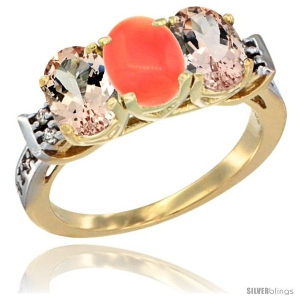 https://www.silverblings.com/64768-thickbox_default/10k-yellow-gold-natural-coral-morganite-sides-ring-3-stone-oval-7x5-mm-diamond-accent.jpg