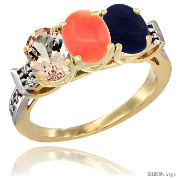 https://www.silverblings.com/64770-thickbox_default/10k-yellow-gold-natural-morganite-coral-lapis-ring-3-stone-oval-7x5-mm-diamond-accent.jpg