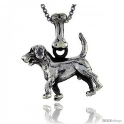 Sterling Silver Beagle Dog Pendant