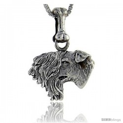 Sterling Silver Kerry Blue Terrier Dog Pendant -Style Pa1005