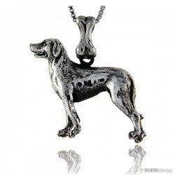 Sterling Silver Labrador Retriever Dog Pendant