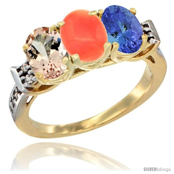 https://www.silverblings.com/64952-thickbox_default/10k-yellow-gold-natural-morganite-coral-tanzanite-ring-3-stone-oval-7x5-mm-diamond-accent.jpg