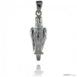 Sterling Silver High Polished Movable Parrot Pendant