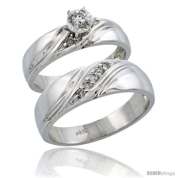 https://www.silverblings.com/65121-thickbox_default/14k-white-gold-2-piece-diamond-ring-band-set-w-rhodium-accent-engagement-ring-mans-wedding-band-w-0-21-carat.jpg