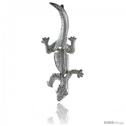 Sterling Silver Movable Gecko Pendant