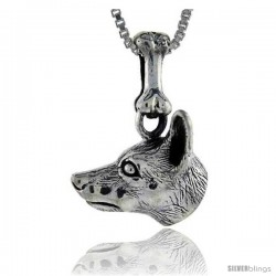 Sterling Silver Miniature Pinscher Dog Pendant -Style Pa1009