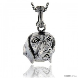 Sterling Silver Beagle Dog Pendant -Style Pa1042
