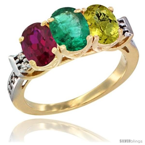 https://www.silverblings.com/66069-thickbox_default/10k-yellow-gold-natural-ruby-emerald-lemon-quartz-ring-3-stone-oval-7x5-mm-diamond-accent.jpg