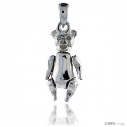 Sterling Silver High Polished Movable Pig Pendant