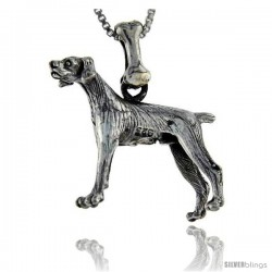 Sterling Silver Pointer Dog Pendant