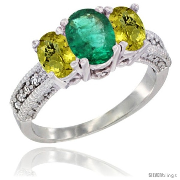 https://www.silverblings.com/66721-thickbox_default/14k-white-gold-ladies-oval-natural-emerald-3-stone-ring-lemon-quartz-sides-diamond-accent.jpg