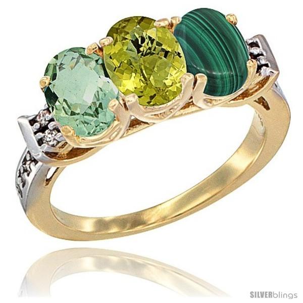 https://www.silverblings.com/6688-thickbox_default/10k-yellow-gold-natural-green-amethyst-lemon-quartz-malachite-ring-3-stone-oval-7x5-mm-diamond-accent.jpg