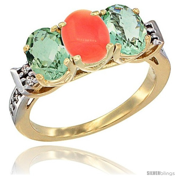 https://www.silverblings.com/6692-thickbox_default/10k-yellow-gold-natural-coral-green-amethyst-sides-ring-3-stone-oval-7x5-mm-diamond-accent.jpg
